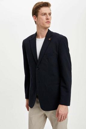 Defacto Erkek Lacivert Regular Fit Basic Blazer Ceket R2505AZ.20SP.NV190 0