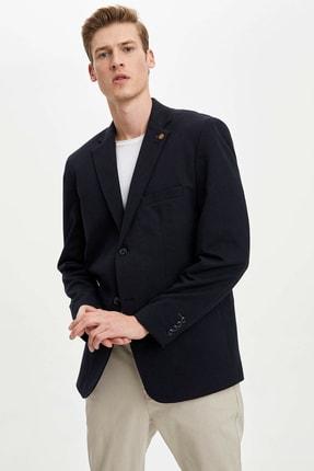 Defacto Erkek Lacivert Regular Fit Basic Blazer Ceket R2505AZ.20SP.NV190 2