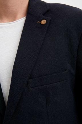 Defacto Erkek Lacivert Regular Fit Basic Blazer Ceket R2505AZ.20SP.NV190 3