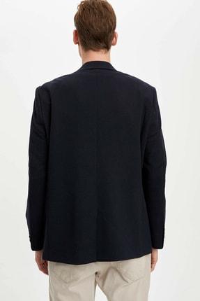 Defacto Erkek Lacivert Regular Fit Basic Blazer Ceket R2505AZ.20SP.NV190 4
