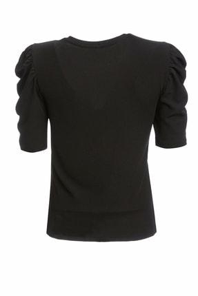Defacto Kadın Siyah Büzgülü Kısa Kollu T-Shirt R3667AZ.20SP.BK27 0