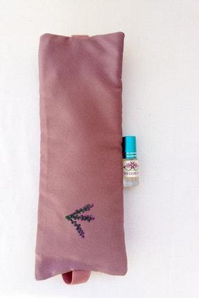 ABELGREEN Lavanta Göz Yastığı-yoga-aromaterapi- Gül Kurusu Renk Pamuk Saten(lavanta Yağı Hediyeli) 0