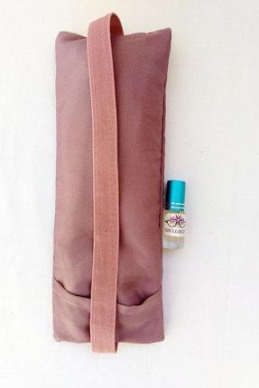 ABELGREEN Lavanta Göz Yastığı-yoga-aromaterapi- Gül Kurusu Renk Pamuk Saten(lavanta Yağı Hediyeli) 1