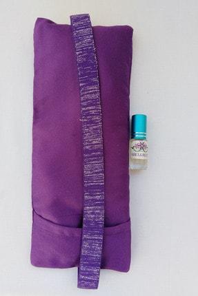 ABELGREEN Lavanta Göz Yastığı-yoga-aromaterapi- Mor Renk Pamuk Saten(lavanta Yağı Hediyeli) 1