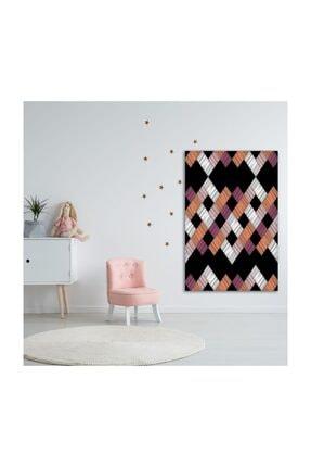 Henge Home Renkli Fırça Darbe Desenli Mor Beyaz Duvar Örtüsü 2