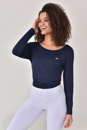 bilcee Lacivert Kadın Uzun Kol T-Shirt GS-8108 4