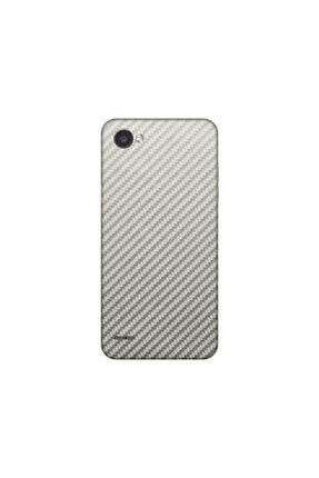 KAPAK OLSUN Lg Q6 Silver Karbon Telefon Kaplaması 0