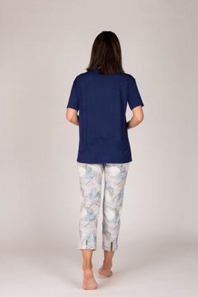 Hays Kadın Lacivert Kolsuz  Midi Pijama  Takımı 2