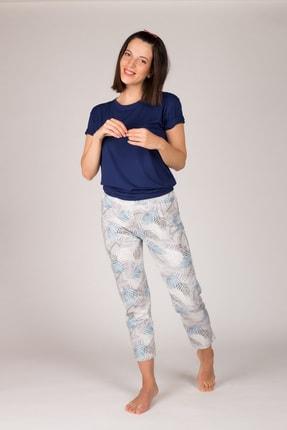 Hays Kadın Lacivert Kolsuz  Midi Pijama  Takımı 0