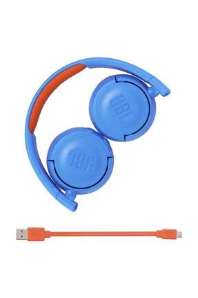 JBL JR300BT Mavi-Turuncu Bluetooth Kulak Üstü Çocuk Kulaklığı 4