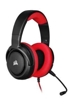Corsair HS35 Kırmızı Stereo Oyuncu Kulaklığı 0
