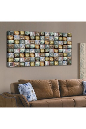 Lora Stil Kanvas Tablo 120 x 60 cm 0