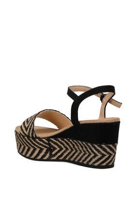 Nine West Norma Siyah Kadın Dolgu Topuklu Sandalet 2