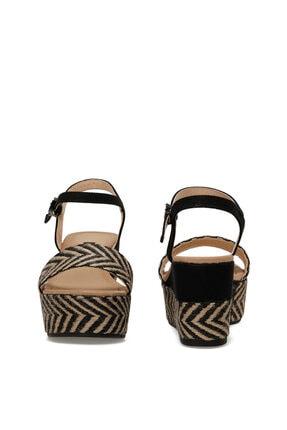 Nine West Norma Siyah Kadın Dolgu Topuklu Sandalet 4