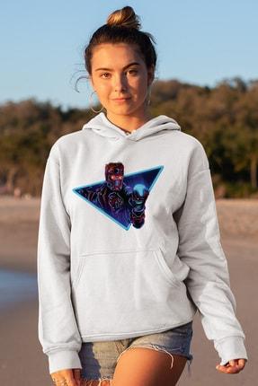 Angemiel Wear Starlord Beyaz Kadın Kapüşonlu Sweatshirt Çanta Kombin 1