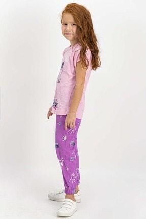 US Polo Assn U.s. Polo Assn Lisanslı Somon Kız Çocuk Pijama Takımı 2