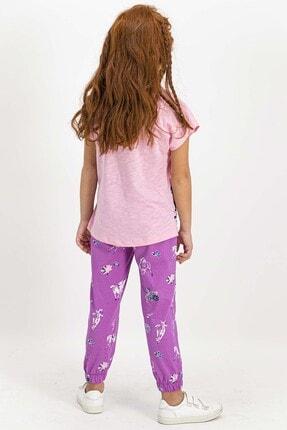 US Polo Assn U.s. Polo Assn Lisanslı Somon Kız Çocuk Pijama Takımı 3