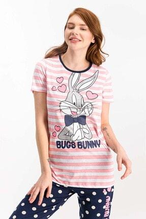 Lola & Bugs Bunny Kadın Bugs Bunny Lisanslı Şeker Pembe Pijama Takımı 2