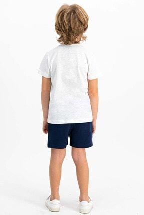 US Polo Assn Lisanslı Krem Erkek Çocuk Şort Takım 3