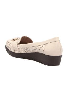Tergan Hakiki Deri Bej-Deri Kadın Dolgu Topuklu Ayakkabı K19I1AY64203 3