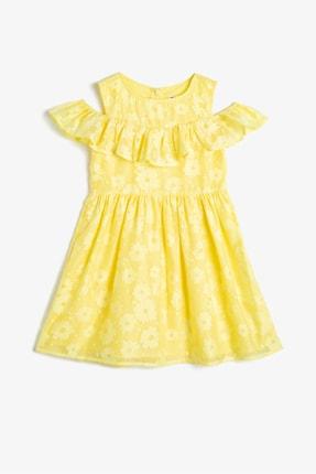 Koton Sarı Kız Çocuk Elbise 0