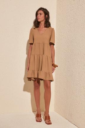 TRENDYOLMİLLA Vizon Geniş Kesim Elbise TWOSS20EL0400 0