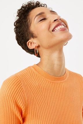 Marks & Spencer Kadın Ten Rengi Yuvarlak Yaka Kısa Kollu Kazak T38005531 0