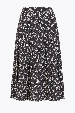 Marks & Spencer Kadın Siyah Desenli Midi Etek T42001039 0