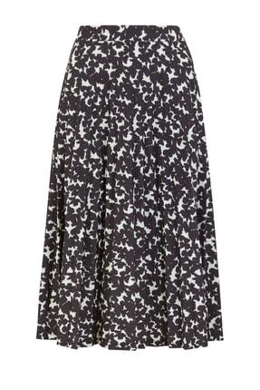 Marks & Spencer Kadın Siyah Desenli Midi Etek T42001039 1