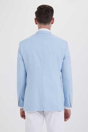Hatemoğlu Desenli Slim Fit Mavi Ceket 14291018C091 3