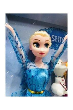 DİSNEY Karlar Ülkesi Elsa Anna Ve Olaf Şarkı Söyleyen Oyuncak Bebek 27.5 Cm 2