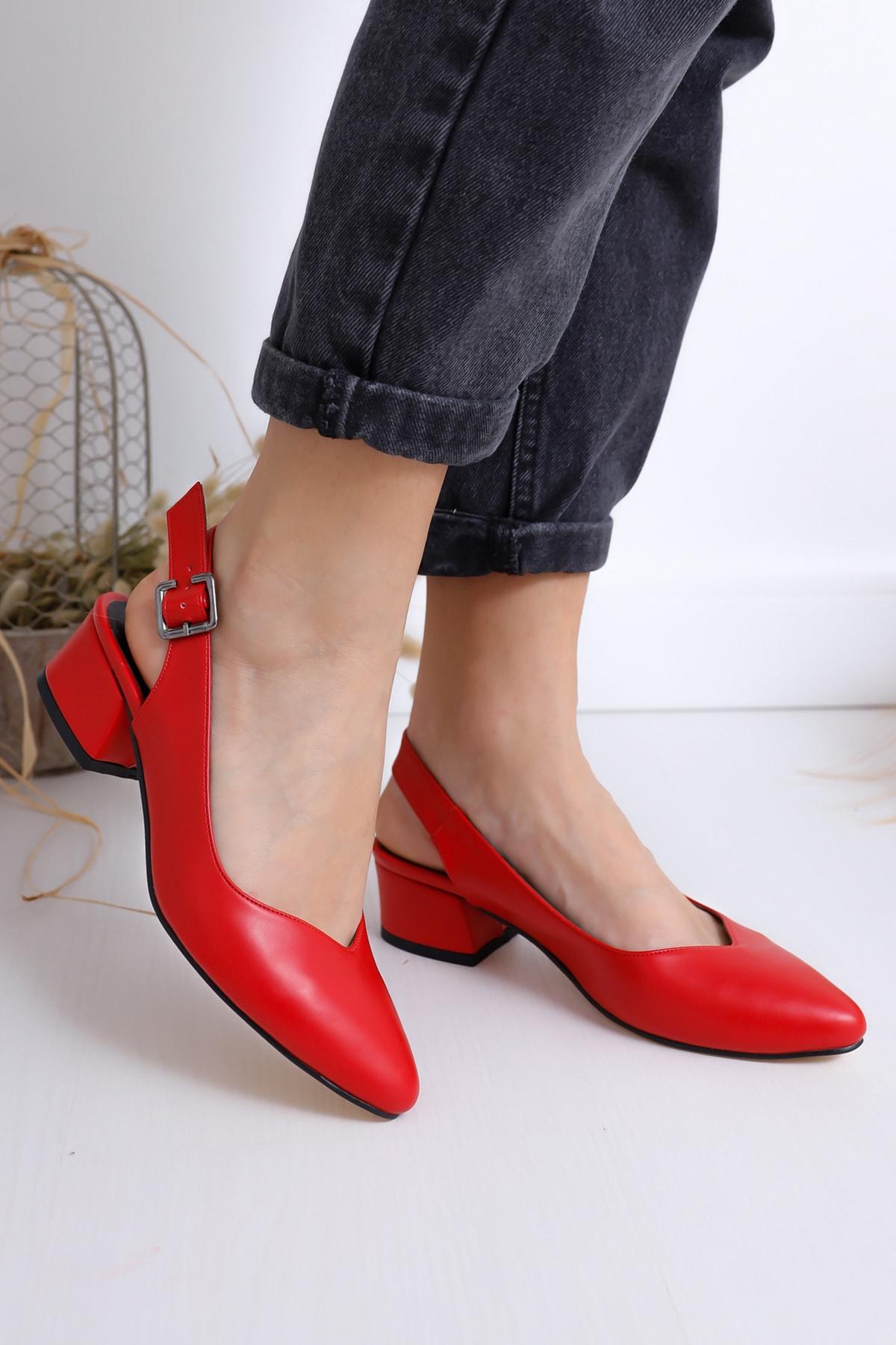 Moda Eleysa Kırmızı Kadın Sandalet