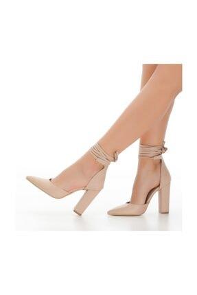 sothe shoes Ten Deri Bayan Topuklu Ayakkabı Stiletto Kalın Topuk Kadın Ayakkabı 2