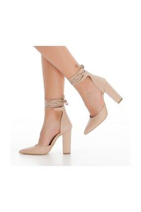 sothe shoes Ten Deri Bayan Topuklu Ayakkabı Stiletto Kalın Topuk Kadın Ayakkabı 3