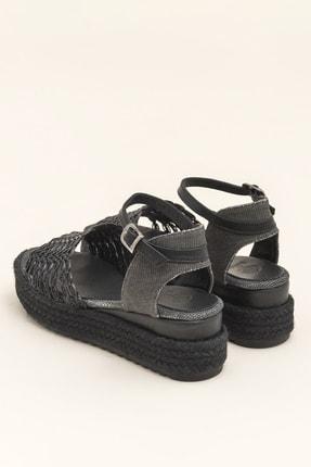 Elle ROWE Siyah Kadın Sandalet 2