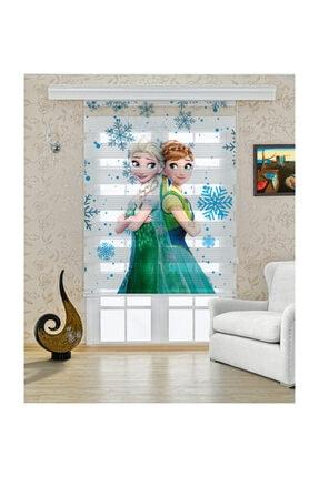 Perdecizade Frozen Elsa Anna Baskılı Zebra Perde 0