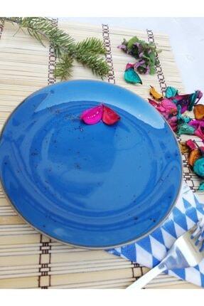 Tulü Porselen Antik Mavi Pasta Tabağı Takımı 1