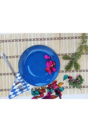 Tulü Porselen Antik Mavi Pasta Tabağı Takımı 2