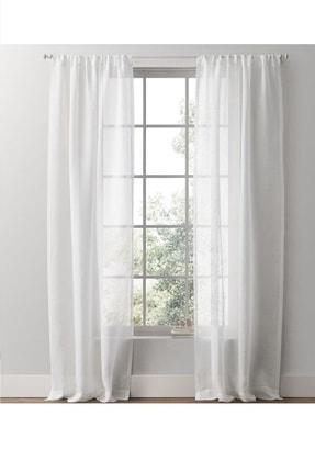 Evdepo Home Hazır Keten Tül Perde - Kırık Beyaz 0
