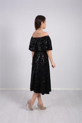 giyimmasalı Payet Tasarım Elbise - Siyah 2