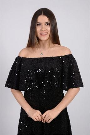 giyimmasalı Payet Tasarım Elbise - Siyah 1