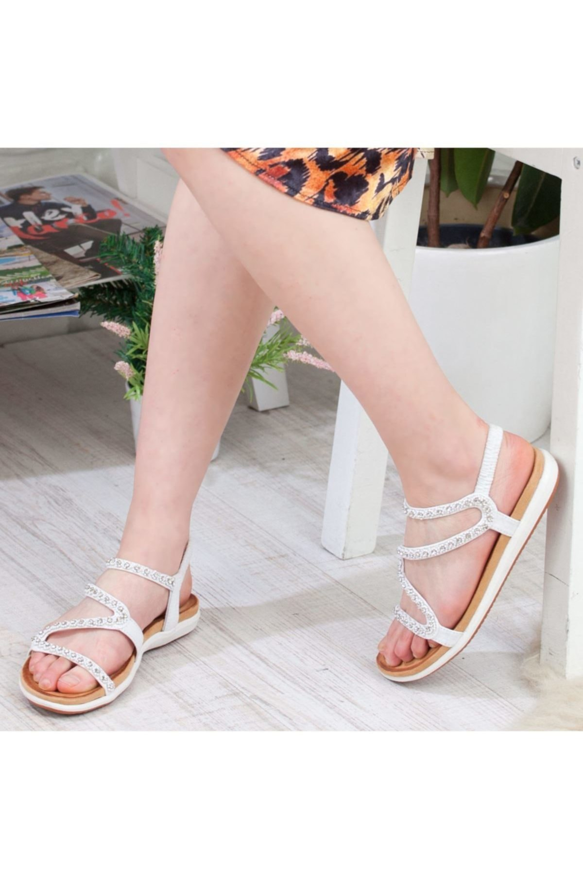 Guja Beyaz Kadın Sandalet