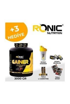 Ronic Nutrition Karbonhidrat Mass Gainer Çikolata Aromalı 3 KG + 3 Adet Hediyeli 1