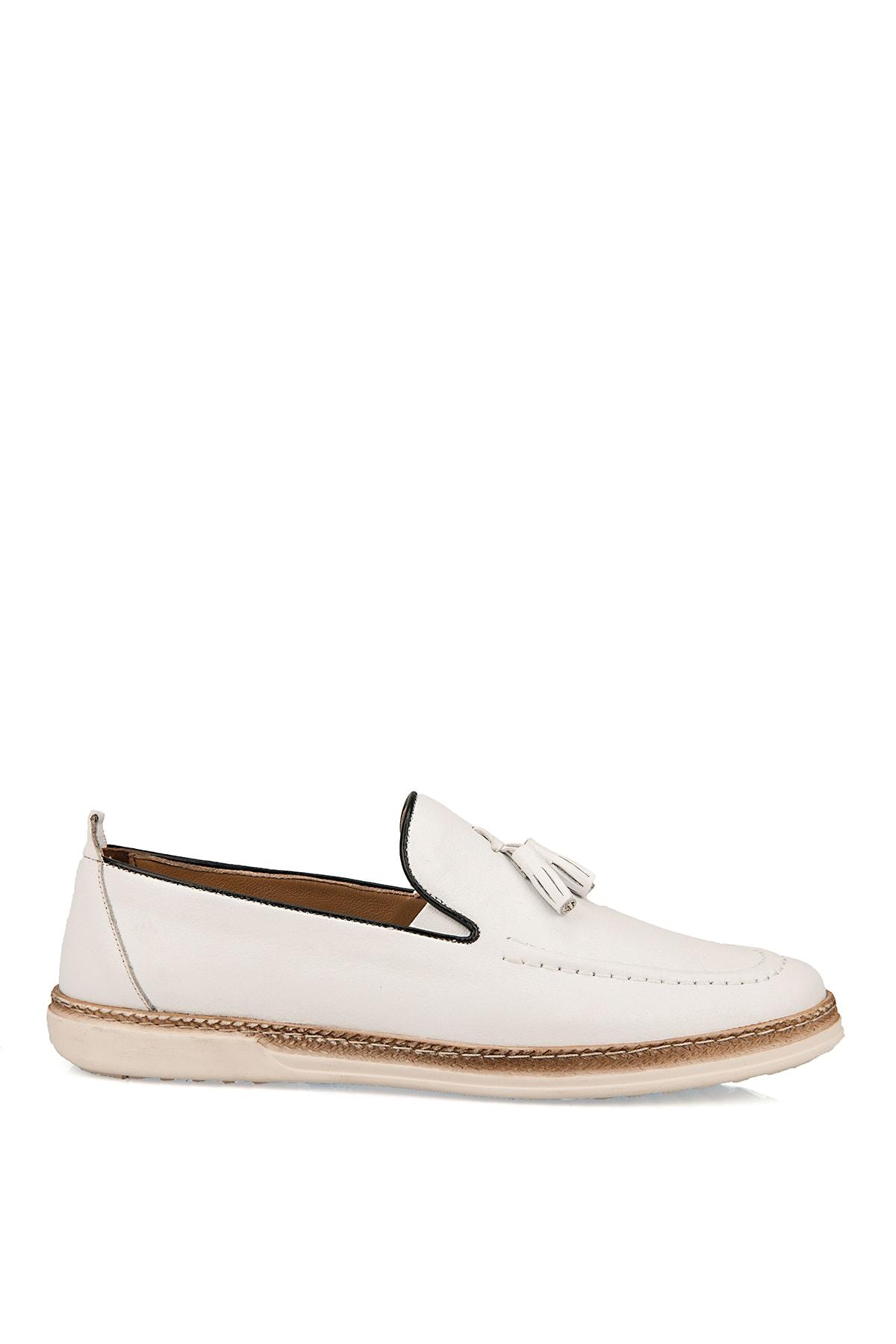 Ziya Hakiki Deri Beyaz Erkek Ayakkabı 101415 506067 0