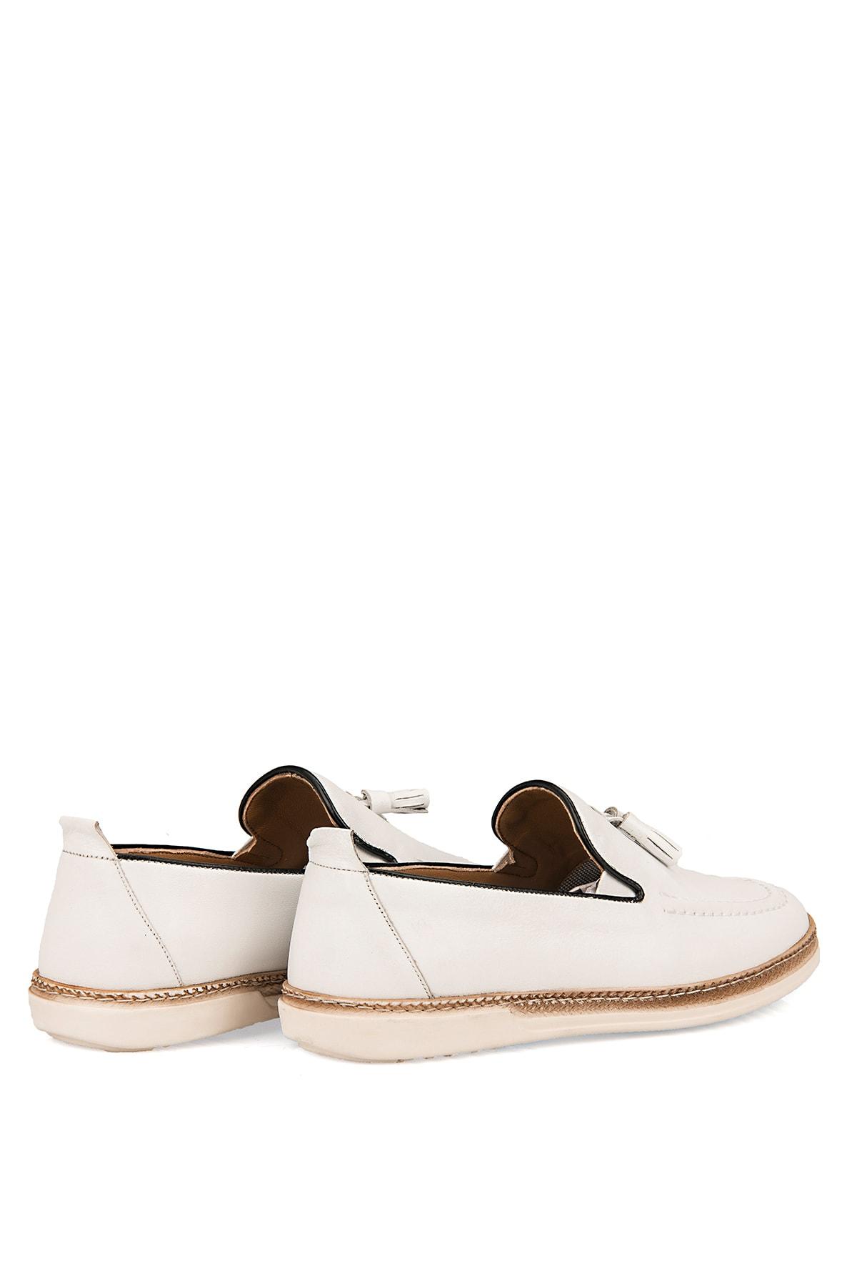 Ziya Hakiki Deri Beyaz Erkek Ayakkabı 101415 506067 3