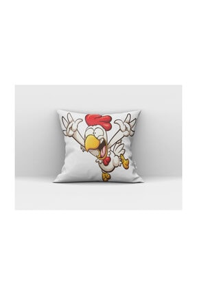 Cango Home Bağıran Tavuk Çocuk Yastık Kırlent Kılıfı 0