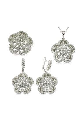 Gumush Gümüş Çiçek Kadın Set 0