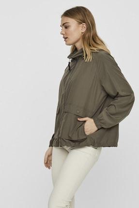 Vero Moda Kadın Haki Çanta Olabilen Mevsimlik İnce Mont 10222923 VMHARLEM 1