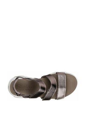 Skechers D'LITES ULTRA - FAB LIFE Kadın Gri Sandalet 4