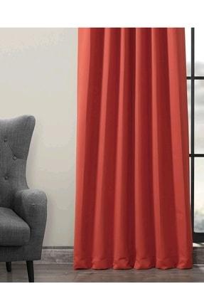 Evdepo Home Karartma Blackout Pilesiz Fon Perde - Kırmızı 3